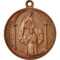 Grande-Bretagne, Medal, The Virgin, Religions & Beliefs, XIXth Century - United Kingdom