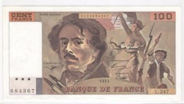 """100 FRANCS Delacroix Type 1978 """"imprimé En Continu"""" - 1993 - UNC/NEUF - 100 F 1978-1995 ''Delacroix''"""