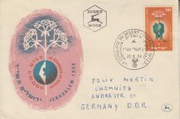 Enveloppe  FDC  1er  Jour  ISRAEL  Conquête Du  Désert   1953 - FDC