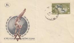 Enveloppe  FDC  1er  Jour  ISRAEL   Jeux  Sportifs  De  La  3éme  Maccabiade   1950 - FDC