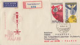 Enveloppe Recommandé  FDC  1er  Jour  TCHECOSLOVAQUIE   Eradication  Du  Paludisme  Malaria  1962 - Disease