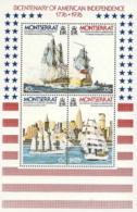 Montserrat,  Scott 2016 # 362a,  Issued 1976,  S/S Of 4,  MNH,  Cat $ 4.00,  Ships - Montserrat