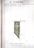 8 Aquarelles Originales 18e Siècle Des BORDES,Ferme De La Verrerie.Yvelines (78) 405 X 245 Mm. - Aquarelles