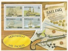 Montserrat,  Scott 2016 # 621a,  Issued 1986,  S/S Of 4,  MNH,  Cat $ 18.50,  Ships - Montserrat