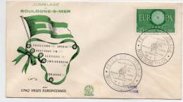 F. D. C. FRANCE  Fete Du Jumelage Boulogne Sur Mer  14/8/1961 Y.T. N° 1267 Europa 1960 - FDC