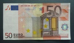 Banknoten, EURO, 2002, 50 Euro, X89085017234, (E002F1)X - EURO