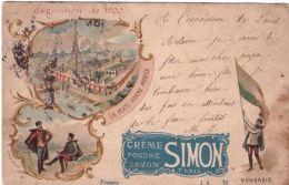 Paris Exposition De 1900 Crème Poudre Savon Simon - Exhibitions