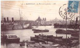 Marseille Le Port De La Joliette (avec Macaron Huile D'Olive Vial Au Dos) - Joliette, Zone Portuaire