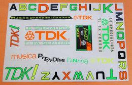 TDK FOGLIO ADESIVO STICKERS - Autocollants