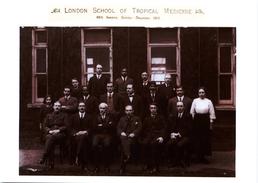 London School Of Tropical Medicine Staff And Students 1915 Modern Unused Card - Health
