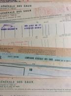 Compagnie Générale Des Eaux : 50 Quittances & Avis, De 1941 À 1952 - Non Classificati