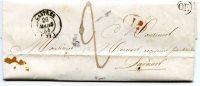 """Marque Postale - Cachet Indiquant """"OR"""" -  De Castres à Lavaur - 1844 - Collections"""