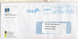 E.M.A 81 Saint Suloice La Pointe 12/7/2016  Enveloppe De La Ville Pont Suspendu, Eglise, Castella - Other