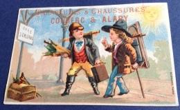 Châteauroux Parapluie Chaussures Couderc Alary Jolie Chromo Bognard Peintre Gare Orléans Bagages Malle Soleil - Cromos