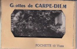 24----GROTTES DE CARPE-DIEM-----10 Mini  Photos-----voir 2 Scans - France
