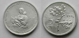 AC - TURKEY FAO 5 KURUS 1976 ALUMINUM UNCIRCULATED - Turkije