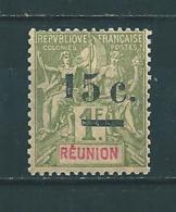 Timbre De Réunion De 1901  N°55b  Neuf Petite Charnière  Cote 60€ - Reunion Island (1852-1975)