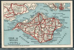 Isle Of Wight Map Postcard, Dean & Co, Sandown - Maps