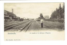 Sombreffe Le Moulin Et La Fabrique D'engrais  Wagons Et Voies De Chemin De Fer - Sombreffe