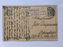 HUNGARY   CROATIA   FIUME   CENSURE Nr.  8     1916.