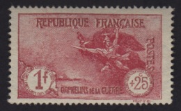 N° 231 - Orphelins De La Guerre - 1F+25C Carmin - Neuf** - France