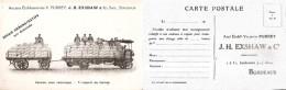 BORDEAUX  -  Camion Ets V. PURREY - J. H. EXSMAN Successeur  -  PUBLICITAIRE - Bordeaux