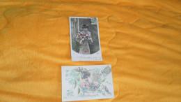 LOT DE 2 CARTES POSTALES ANCIENNES CIRCULEES DE 1907. / NE M'OUBLIEZ PAS. / FEMME. / CACHET + TIMBRE - Femmes