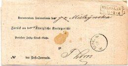 L127  Miloslaw  Cachet 2 Lignes Encadrees 1863  Pour Thorn - [1] Prephilately