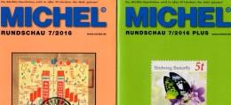 MICHEL Briefmarken Rundschau 7/2016 Sowie 7/2016-plus Neu 12€ New Stamps Of The World Catalogue And Magacine Of Germany - Miniaturen