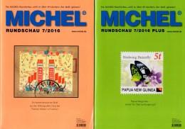 Briefmarken MICHEL-Rundschau 7/2016 Sowie 7/2016-plus Neu 12€ New Stamps Of The World Catalogue And Magacine Of Germany - Telefonkarten