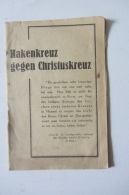 Rare Livret Hakenkreuz Gegen Christuskreuz 1939 24 P - Livres, BD, Revues