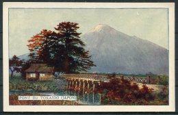 Japan Pont Du Tokaido Japon Malaceine Paris Advertising Postcard - Japan