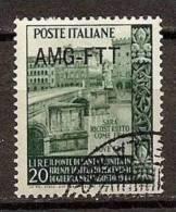 1949 Italia Italy Trieste A  PONTE TRINITA´  Serie Usata USED - Ponti