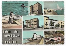 SALUTI DA RIVABELLA DI RIMINI VIAGGIATA FG - Rimini