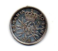 50 BANI 1914 CAROL I Argent - Roumanie