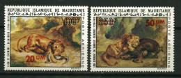 """Mauritanie ** PA N° 153/154 - Tableaux De Delcroix """"lion Et Caïman"""" """"lion Et Sanglier"""" - - Mauretanien (1960-...)"""
