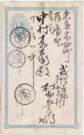 LPP6J - JAPON CP 1S BLEU VOYAGEE - Cartes Postales