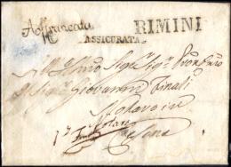 Rimini-3 - Piego Con Testo Del 2 Ottobre 1836 - Reca Due Interessanti Bolli Postali - - Italia