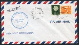 1983 Netherlands Ship Paquebot Cover Nedlloyd  Barcelona Genova Port Italy - Period 1980-... (Beatrix)
