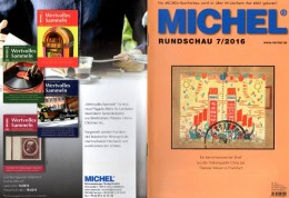 Briefmarken Rundschau MICHEL 7/2016 Neu 6€ New Stamps Of The World Catalogue/ Magacine Of Germany ISBN 978-3-95402-600-5 - Other