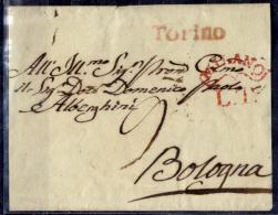 Torino-9 - Sovrascritta, Senza Lembi Di Chiusura - Bolli Postali Di Inizio Secolo XIX - - Italia
