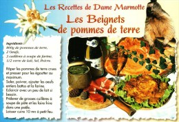 Carte Postale Thème Recettes De Cuisine  -   Les Recettes De Dame Marmotte - Les Beignets De Pomme De Terre - Recipes (cooking)