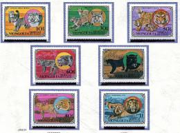 Mongolie ** N° 1038 à 1044 - Chat,, Lynx, Tigre,panthère, Léopard, Guépard, Lion - - Mongolia