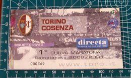 BIGLIETTO TORINO - COSENZA 2000-2001 - Biglietti D'ingresso