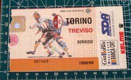 BIGLIETTO TORINO - TREVISO 1998-99 - Biglietti D'ingresso