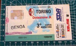 BIGLIETTO TORINO - GENOA 1998/99 - Biglietti D'ingresso