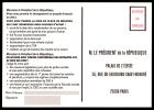 B4-02Y- Carte Pétition Au Président De La République, Pseudo PAP - Postal Stamped Stationery