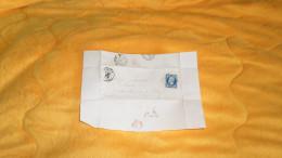 LETTRE ANCIENNE DE 1857. / LA CHARITE A MOULINS EN GILBERT. / CACHETS + OBLIT. PC + TIMBRE - Marcofilia (sobres)