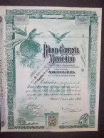 Lot    30    BANCO Central MEXICANO 1905   Ou  1908  + Coupons  Non Annulé   Speculation - Shareholdings