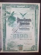 Lot    30    BANCO Central MEXICANO 1905   Ou  1908  + Coupons  Non Annulé   Speculation - Aandelen